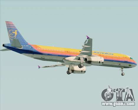 Airbus A321-200 Air Jamaica for GTA San Andreas bottom view