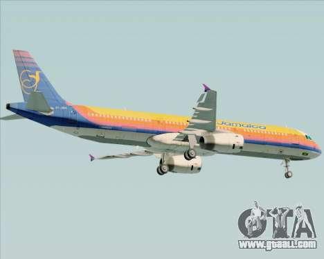 Airbus A321-200 Air Jamaica for GTA San Andreas bottom view
