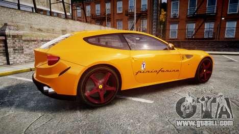 Ferrari FF 2012 Pininfarina Yellow for GTA 4 left view