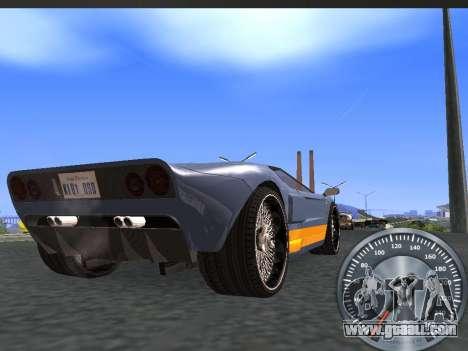 Classic metal speedometer for GTA San Andreas second screenshot