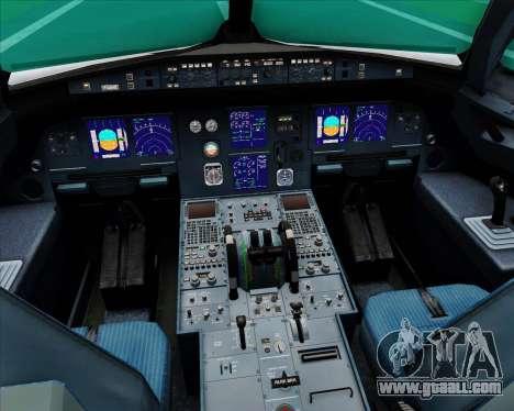Airbus A321-200 Saudi Arabian Airlines for GTA San Andreas interior