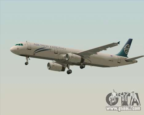 Airbus A321-200 Air New Zealand for GTA San Andreas side view