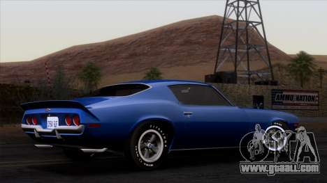 Chevrolet Camaro Z28 1970 (ImVehFt) for GTA San Andreas left view