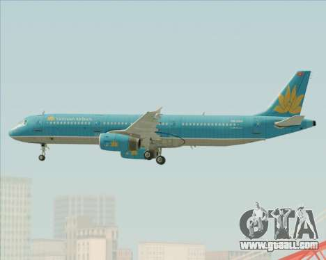 Airbus A321-200 Vietnam Airlines for GTA San Andreas engine