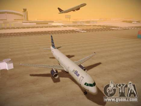 Airbus A321-232 jetBlue Airways for GTA San Andreas inner view