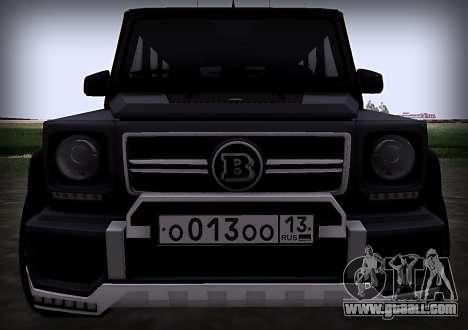 Brabus 800 for GTA San Andreas inner view