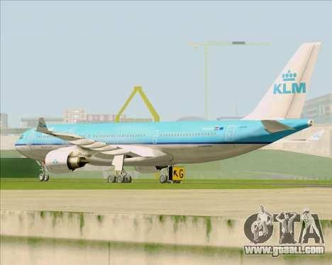 Airbus A330-200 KLM - Royal Dutch Airlines for GTA San Andreas back view