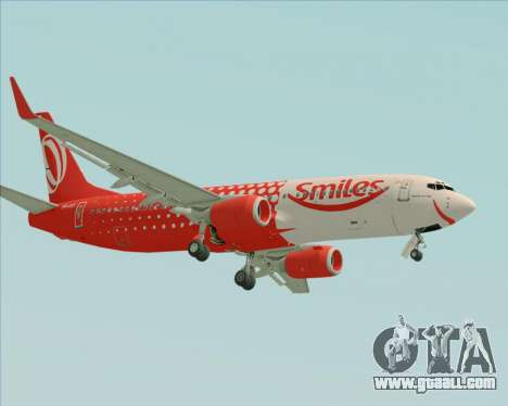 Boeing 737-800 Gol Transportes Aéreos for GTA San Andreas back view
