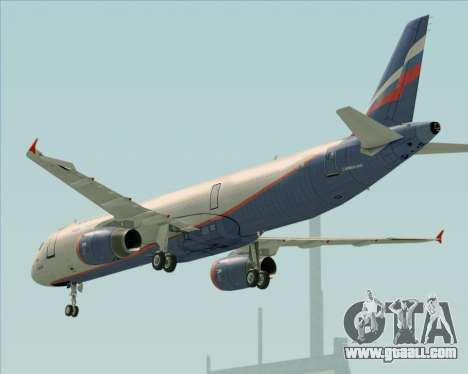 Airbus A321-200 Aeroflot - Russian Airlines for GTA San Andreas engine