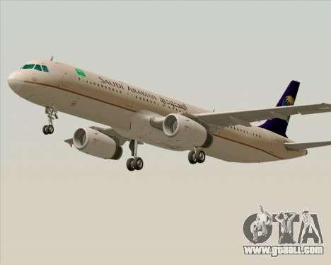 Airbus A321-200 Saudi Arabian Airlines for GTA San Andreas left view