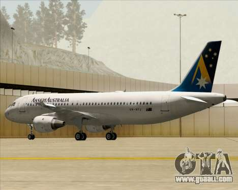 Airbus A320-200 Ansett Australia for GTA San Andreas wheels