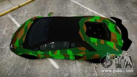 Lamborghini Aventador LP760-4 Camo Edition for GTA 4 right view