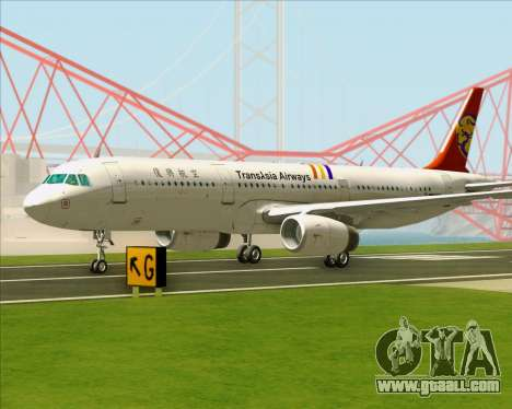 Airbus A321-200 TransAsia Airways for GTA San Andreas upper view