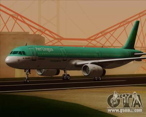 Airbus A321-200 Aer Lingus for GTA San Andreas left view