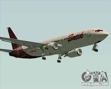 Boeing 737-800 Batik Air for GTA San Andreas left view