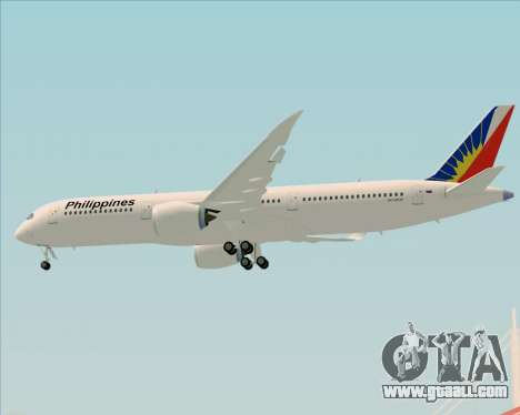 Airbus A350-900 Philippine Airlines for GTA San Andreas bottom view