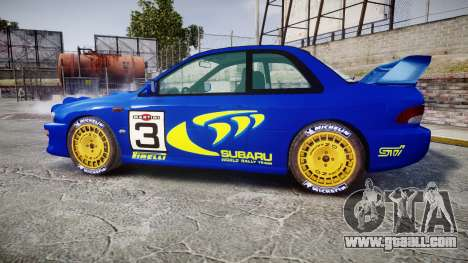 Subaru Impreza WRC 1998 Rally v2.0 Yellow for GTA 4 left view