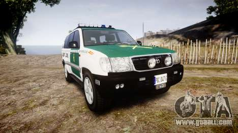 Toyota Land Cruiser Guardia Civil Cops [ELS] for GTA 4