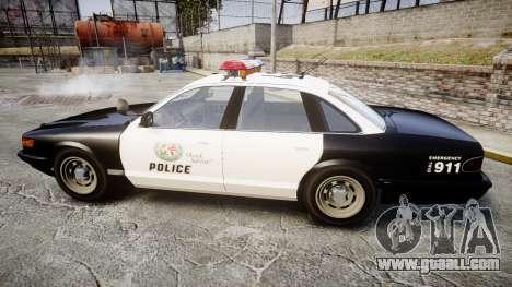 Vapid Police Cruiser MX7000 for GTA 4 left view