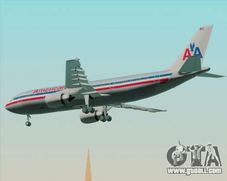 Airbus A300-600 American Airlines for GTA San Andreas back view