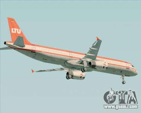 Airbus A321-200 LTU International for GTA San Andreas bottom view