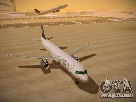 Airbus A321-232 Cyprus Airways for GTA San Andreas back view