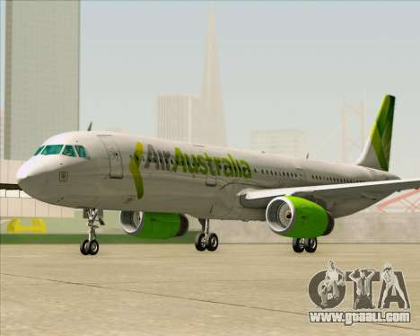 Airbus A321-200 Air Australia for GTA San Andreas bottom view