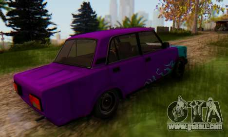 VAZ 2107 Blue Flame for GTA San Andreas left view