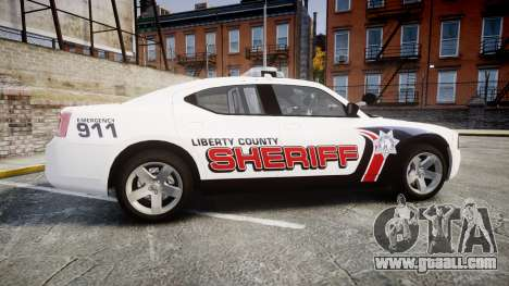 Dodge Charger 2010 LC Sheriff [ELS] for GTA 4 left view