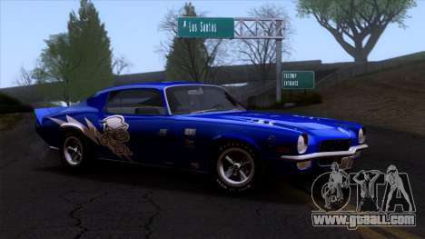 Chevrolet Camaro Z28 1970 (ImVehFt) for GTA San Andreas side view