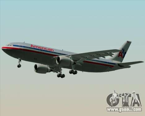 Airbus A300-600 American Airlines for GTA San Andreas side view