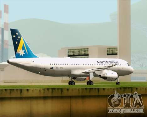 Airbus A320-200 Ansett Australia for GTA San Andreas bottom view