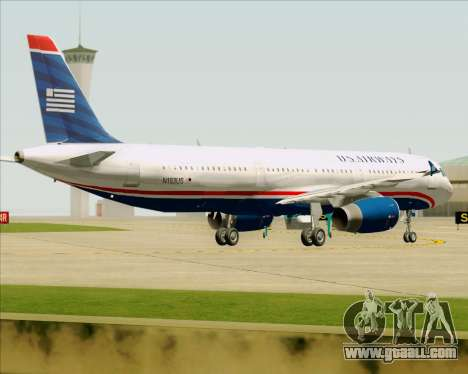 Airbus A321-200 US Airways for GTA San Andreas bottom view