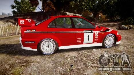 Mitsubishi Lancer Evolution VI Rally Marlboro for GTA 4 left view