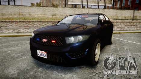 GTA V Vapid Interceptor Unmarked [ELS] Slicktop for GTA 4