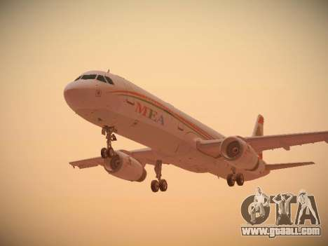 Airbus A321-232 Middle East Airlines for GTA San Andreas back view