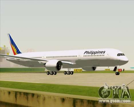 Airbus A350-900 Philippine Airlines for GTA San Andreas side view