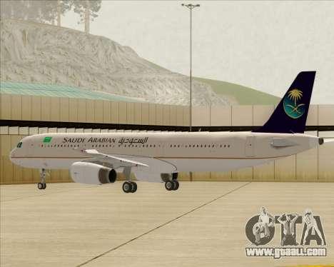 Airbus A321-200 Saudi Arabian Airlines for GTA San Andreas wheels