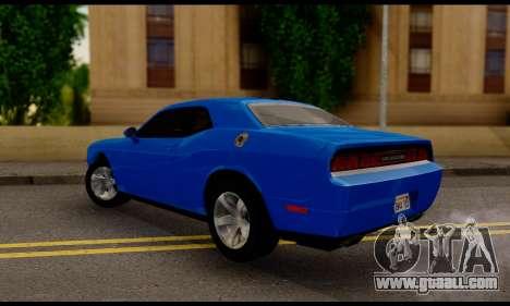 Dodge Challenger SXT Plus 2013 for GTA San Andreas left view