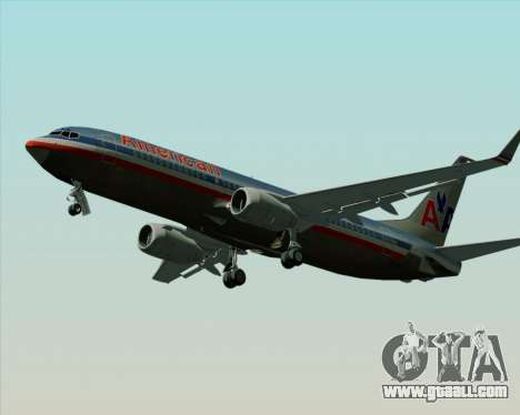 Boeing 737-800 American Airlines for GTA San Andreas inner view