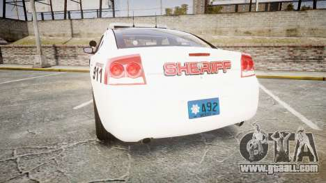 Dodge Charger 2010 LC Sheriff [ELS] for GTA 4 back left view