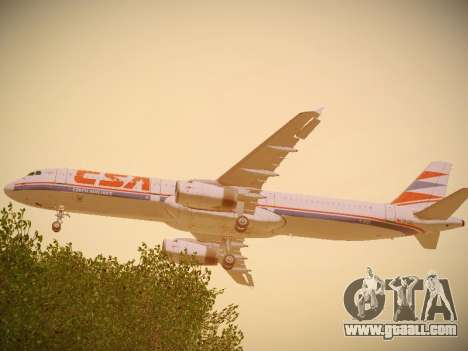 Airbus A321-232 Czech Airlines for GTA San Andreas right view