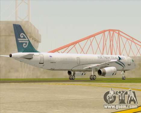 Airbus A321-200 Air New Zealand for GTA San Andreas upper view