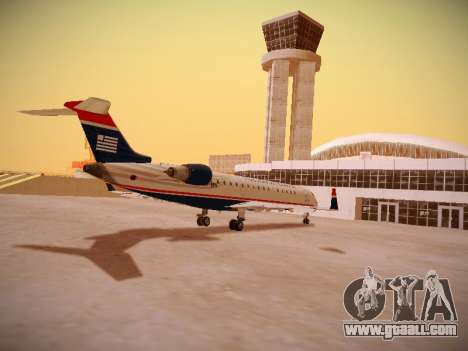 Bombardier CRJ-700 US Airways Express for GTA San Andreas right view