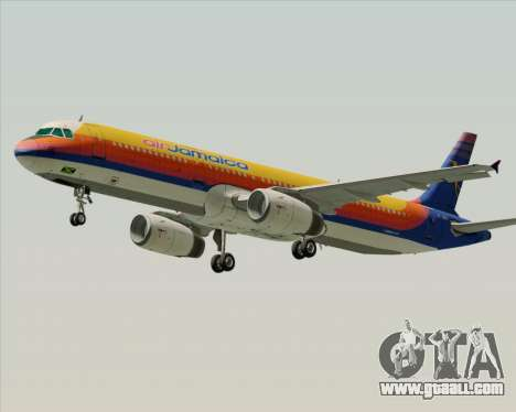 Airbus A321-200 Air Jamaica for GTA San Andreas inner view