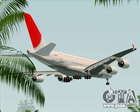 Airbus A380-800 Japan Airlines (JAL) for GTA San Andreas upper view