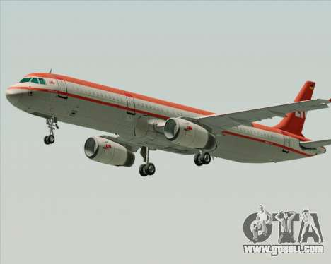 Airbus A321-200 LTU International for GTA San Andreas upper view