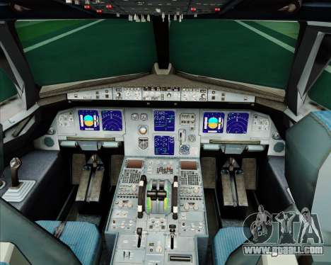 Airbus A321-200 Monarch Airlines for GTA San Andreas interior