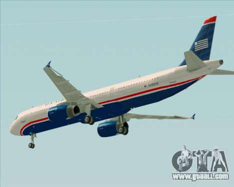 Airbus A321-200 US Airways for GTA San Andreas upper view
