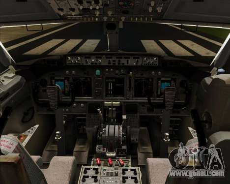 Boeing 737-8LJ Aeroflot - Russian Airlines for GTA San Andreas interior